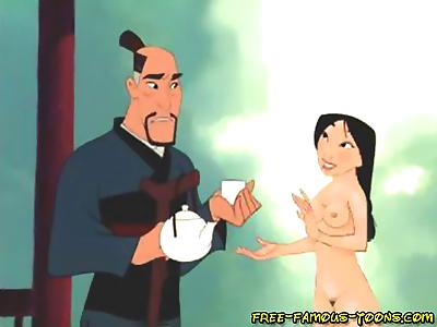 Mulan hard fucked by friends..