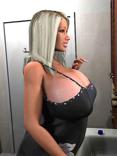 Seductive 3d blonde exposing..