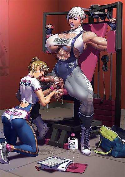 Dickgirls workout erections..