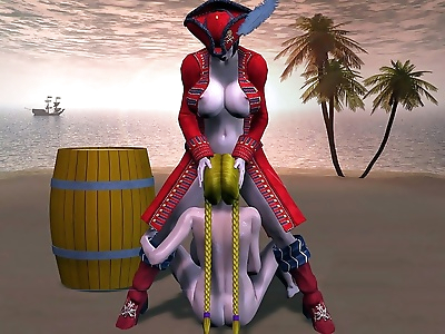 Breasty pirate lesbian sex -..