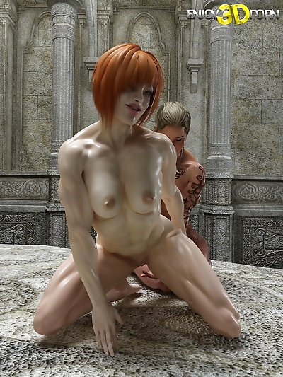 Muscled oiled up lesbians..