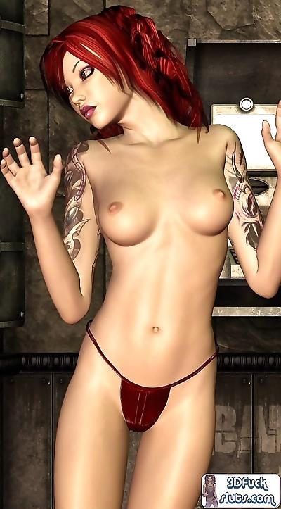3d toon redhead - part 13